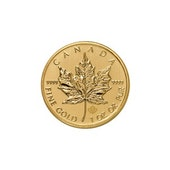 Canadian Maple Leaf - Gold