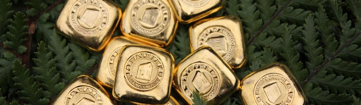 Waihi's Ethical Gold - 1 ounce ingots.